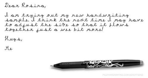 handwritten e-letter