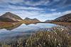 Trømvik Pond Reflections   Norway (Reed Ingram Weir) Tags: trip blue autumn mountains water norway reflections pond colours cloudysky rekvik reedingramweir riwp trømvik