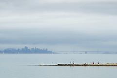 gone fishing (gwashley) Tags: sanfrancisco california bay fishing baybridge hayward