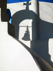 Shadows on the orthodox church (-MaTTe-) Tags: shadow sea mare bell ombra campana greece grecia cyclades naxos cicladi naxosisland