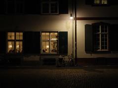 Voyeur (dappsull) Tags: windows bicycle lights shadows nightshot cobblestone textures voyeur notripod drainpipes likeintheolddays moretagsthanyoucouldshakeastickat