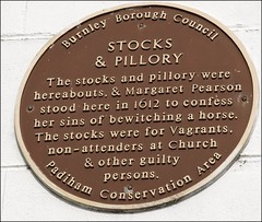 STOCKS AND PILLORY (Janet Stansfield) Tags: stocks pillory padiham padihamconservationarea