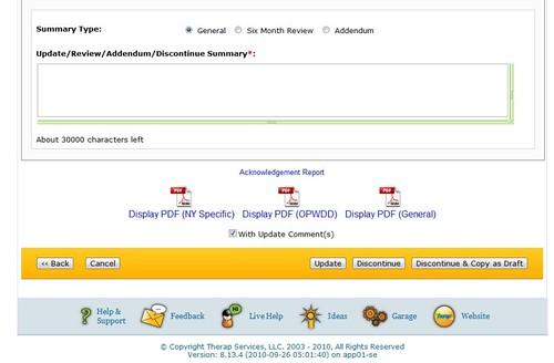 Screenshot of ISP Plan