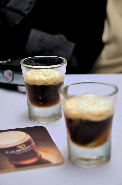 Arthur's Day Guinness Lychee Shooter