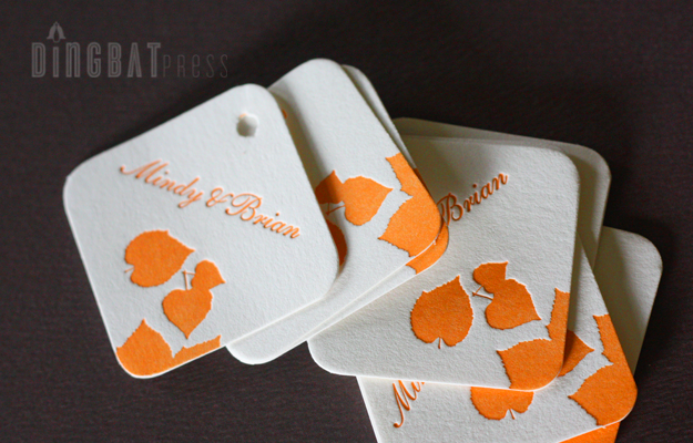 Mindy & Brian, aspen favor tags