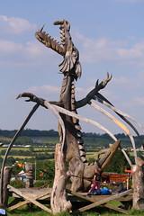 Site art (joy7d) Tags: art festival site dragon glastonbury glastonbury2009