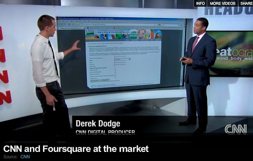 Screenshot of CNN showing the USDA Farmers Market Directory