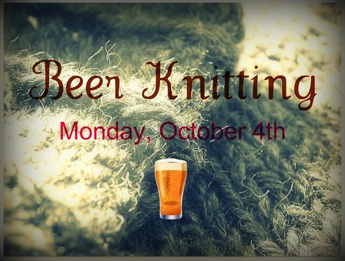 Beer Knitting