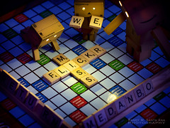 085/365: We Miss Flickr. (Randy Santa-Ana) Tags: toys scrabble danbo gf1 project365 danboard minidanboard minidanbo 365daysofdanbo