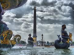 Paris - Place Concorde - HDR (sscantero) Tags: paris fuente concorde font hdr placeconcorde