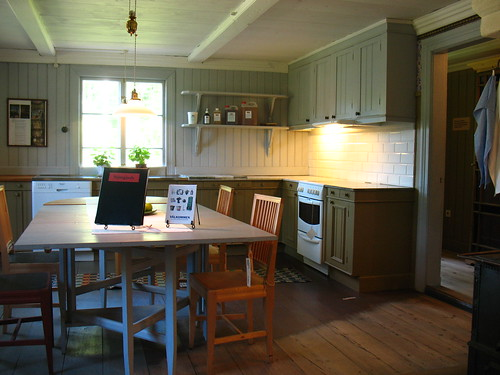 partially renovated kitchen