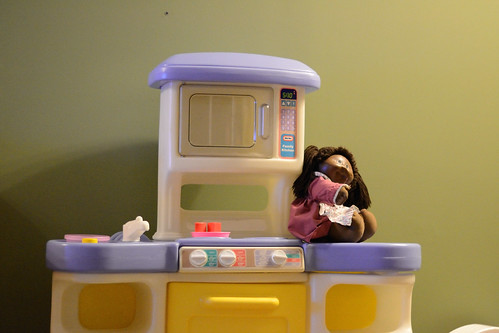 Toy Kitchen shot with Nikon D3100 @ ISO 3200