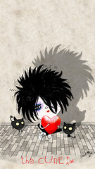 the cure love cats (crosti) Tags: musician music cats black art love rock illustration hair sketch sweet drawing gothic spooky singer thecure mascara lipstick popular rollingstone robertsmith lovecats happysad japanesewhispers heartballoon crosti magazineeditorial inflatableheart christinatsevis