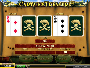 free Captain's Treasure Pro gamble bonus game
