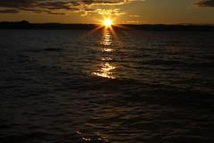 Sunset (J. Roseen) Tags: blue light sunset sky orange sun lake color water canon photo 2470mml sweden norden skandinavien nordic sverige scandinavia jönköping vättern huskvarna ef2470mmf28l