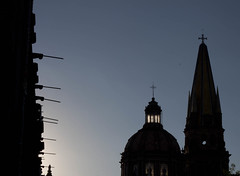 Guadalajara reflected (Gerardography) Tags: sunset shadow contrast canon atardecer 50mm cathedral catedral guadalajara contraste f18 18 sombras 500d plazadelaliberacion t1i