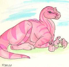 9.30.10 My First Pink Dinosaur!