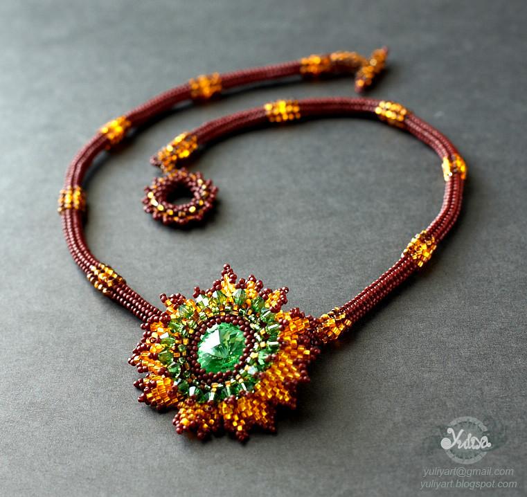 beaded necklace Autumn Sunshine