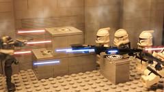 Battle (M.C.L.S studios™) Tags: starwars lego smoke battle laser clone fxhome mrcoollegostuff
