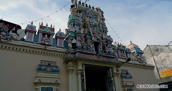 The front of Mahamariamman Temple