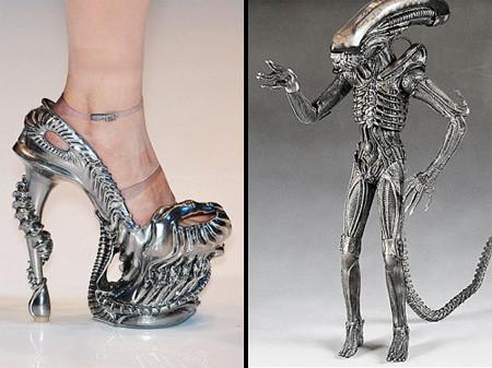 туфли от дизайнера Alexander McQueen -- Alien