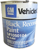 GM Chassis and Restoration Black Reconditioning Paint #1050104