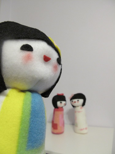 Kokeshi dolls for Plush You.