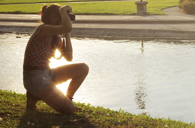 A picture about shooting a picture.