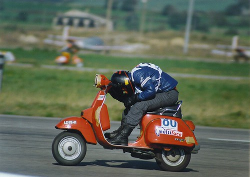 Sintra Air Force Base - Vespa racing in the mid 1980s