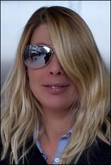 Rita (zilverbat.) Tags: people woman face sunglasses reflections glasses raw natural experiment babe blond blonde expressive groningen bril oneeye reflectie zonnebril naturel natuurlijklicht strangerproject expressief zilverbat sigma50mm14primelens withgeraldos andwalterwatzpatzkowski
