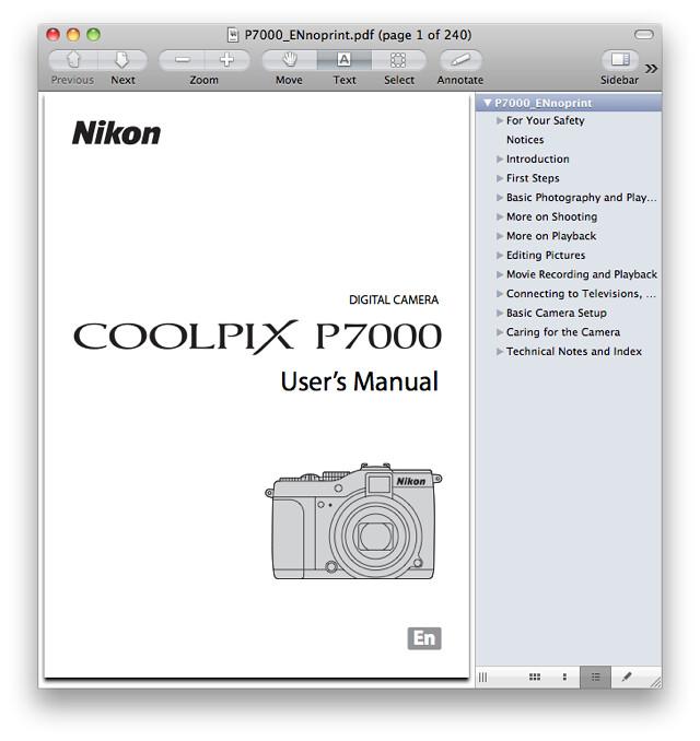 Nikon P7000 Manual
