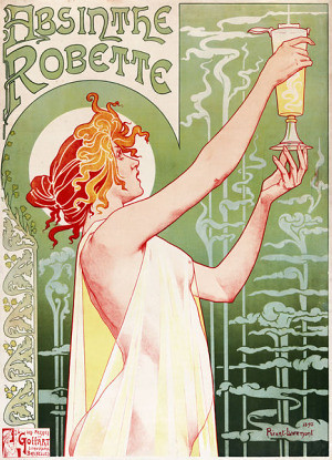 An 1896 lithograph poster by T. Privat-Livemont, advertising absinthe.