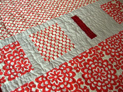 squares quilt detail closest