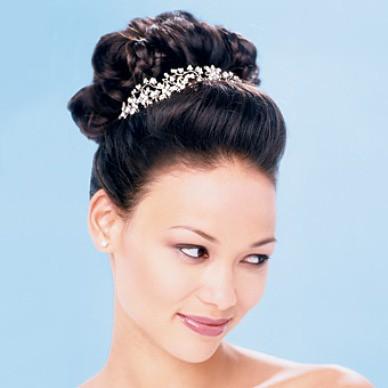 penteado de noiva com acessório