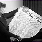 US 1st Lady Eleanor Roosevelt & Declaration, 1949