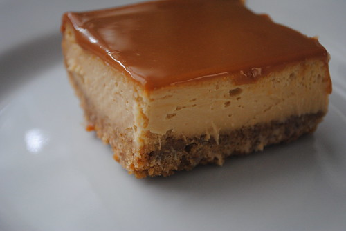 Ladyberd's Kitchen: Dulce de leche cheesecake squares
