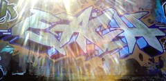 Each (Sorry officer, I didn't know graffiti was illigal) Tags: ocean beach wall vancouver graffiti mural glare kits production graff dope epic each nvan