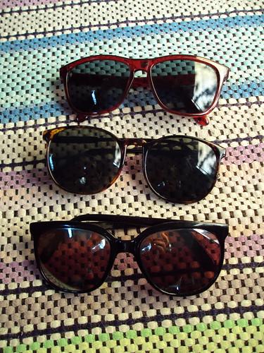 Three Pairs of Sunglasses