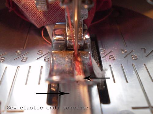 Sew elastic ends