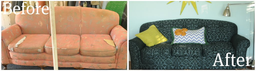 sofa before/after