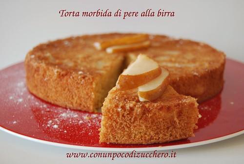 torta morbida di pere