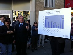 Scott Stringer at Bike Lanes News Conference