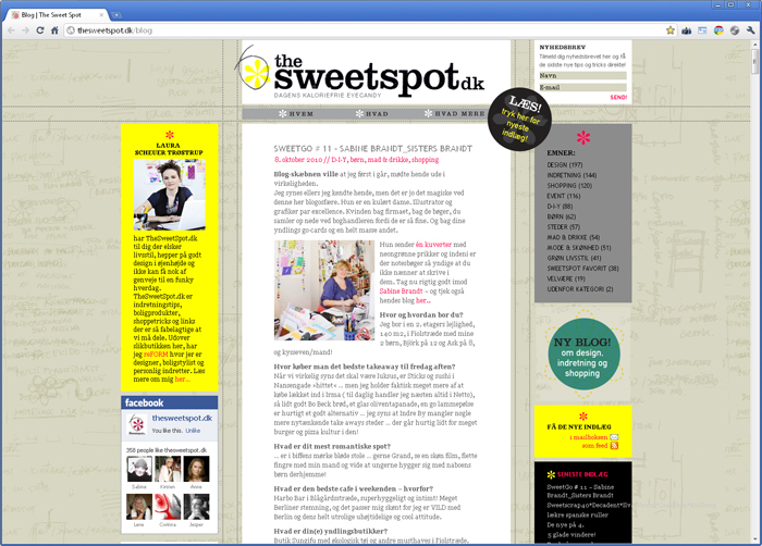 I heart SISTERBRANDT Interview on thesweetspot.dk