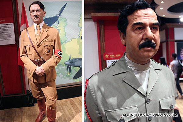 Adolf Hitler and Saddam Hussein