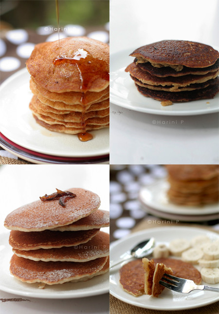 All types of pancakes