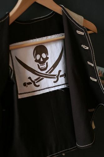 Appliqué intérieur pirate