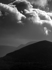 Clouds (hotpotato70) Tags: wild sky blackandwhite mountains clouds scotland highlands glen aviemore lairigghru rothiemurchusestate gloomypass