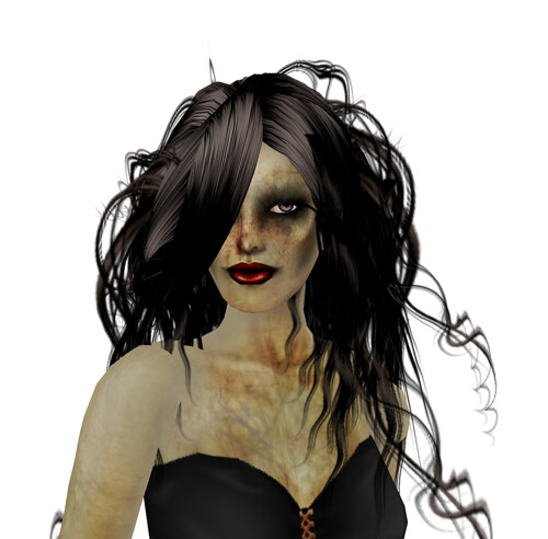 + ezura + Halloween Pumpkin Gown *VIP (just the corset) + MIASNOW Skin - ZOMBINA brainlicker hunt item
