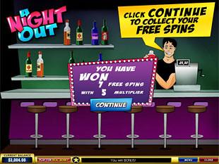 free A Night Out slot bonus feature award