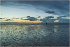 Reflecting towering clouds, Explored! (Ianmoran1970) Tags: blue sky cloud reflection green beach wet river sand wind mersey windfarm crosby turbines anthonygormley irishsea anotherplace explored ianmoran ianmoran1970